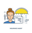 concept of insurance agent vector image vector image