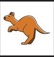 Cute kangaroo jumping vector image