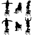 dance on chair vector image vector image