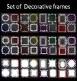 Decorative frame set vector image vector image