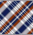 diagonal tartan seamless texture in blue and vector image vector image