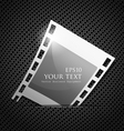 Empty silver camera film roll vector image vector image