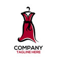 fashion and dress design logo vector image vector image