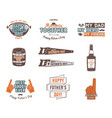 fathers day badges labels collection holiday vector image vector image