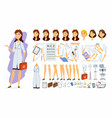 female doctor - cartoon people character vector image