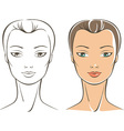 female face vector image vector image