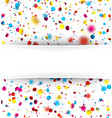 festive background with colorful confetti vector image vector image