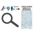 Find Icon with 1000 Medical Business Symbols vector image vector image