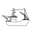 fishing boat isolated vector image vector image