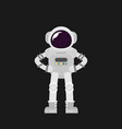 flat design astronauts vector image vector image