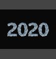 frozen 2020 figures template vector image vector image