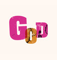 god concept stamped word art vector image vector image