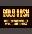 Golden 3d polished font gold letters and numbers