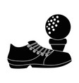 golf shoe accessory with ball vector image vector image