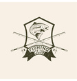grunge fishing club crest with trout vector image vector image