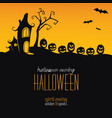 halloween background silhouettes pumpkins at vector image