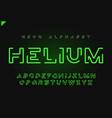 helium futuristic linear neon alphabet vector image vector image