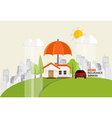 Home insurance business service concept of vector image