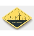 icon wind turbines and energy vector image