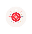 label percent icon sale discount star graphic vector image vector image