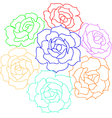large bouquet of roses vector image