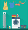 Laundry Washing room vector image vector image