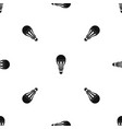 led bulb pattern seamless black vector image vector image