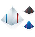 logo pyramid set vector image vector image