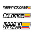 made in colombia vector image vector image