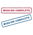 Mission Complete Rubber Stamps vector image vector image