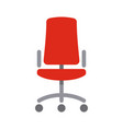office red chair simple flat style icon vector image vector image