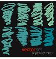 Pastel strokes set 4 vector image vector image