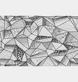 polygonal entangle seamless pattern vector image
