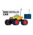 radio controlled car toy isolated flat vector image vector image