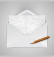 realistic envelope with a pencil vector image vector image