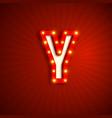 retro style letter y vector image vector image