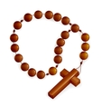 Rosary and Cross vector image