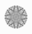 round black braided lace napkin decorative vector image vector image
