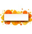 Round orange banner vector image vector image