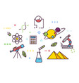 science line banner vector image