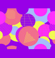 seamless pattern with circles futurism retro vector image vector image