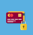 security of bank cards two debit cards secured vector image vector image