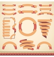 set of blank retro badges labels ribbons vector image vector image