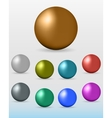 set of colorful glossy spheres vector image vector image