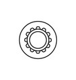 settings line icon mobile sign and cogwheel vector image