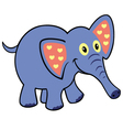 simple childish elephant vector image vector image