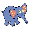 simple childish elephant vector image vector image