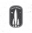 space mission logo badge patch concept vector image