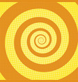 spiral rays pop art retro background vector image vector image