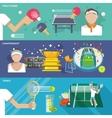 Tennis Banner Set vector image vector image